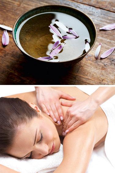 Körperpeelings und Massagen